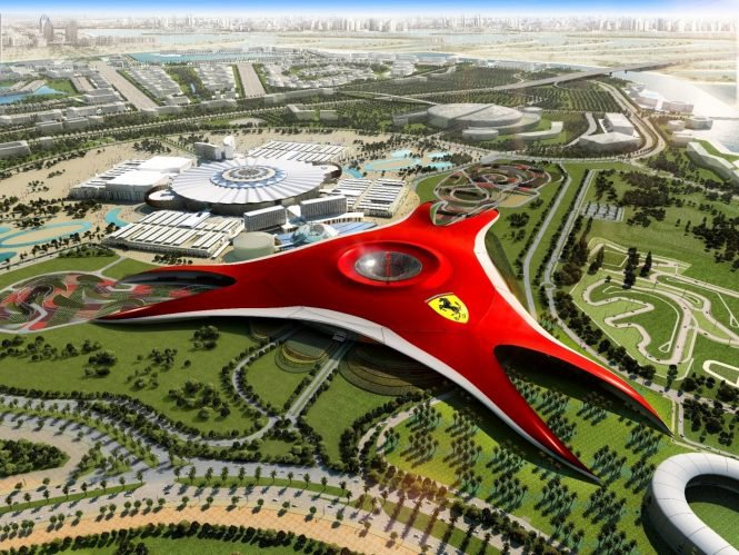 Dubai with Ferrari world